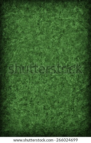 Photograph of Recycle Striped Kelly Green Pastel Paper, bleached, mottled, coarse grain, vignette grunge texture sample. - stock photo