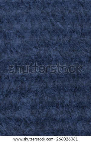 Photograph of Recycle Striped Marine Blue Pastel Paper, bleached, mottled, coarse grain, grunge texture sample. - stock photo