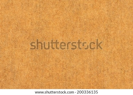 Photograph of recycle striped Vivid Brown Kraft paper, coarse grain, grunge texture sample - stock photo