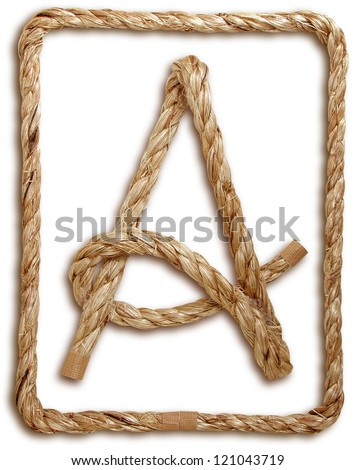 Photograph of Rope Letter A - stock photo