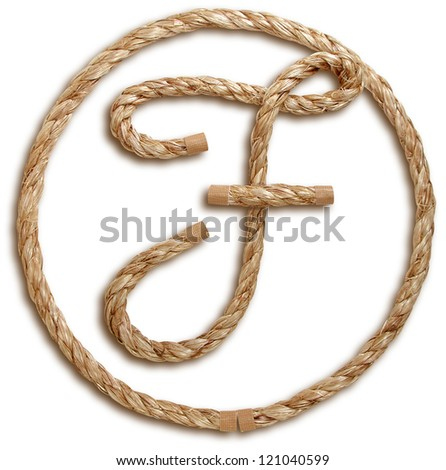 Photograph of Rope Letter F