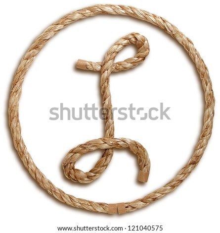 Photograph of Rope Letter L