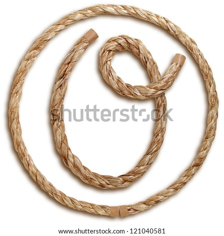 Photograph of Rope Letter O - stock photo