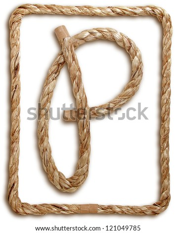Photograph of Rope Letter P - stock photo