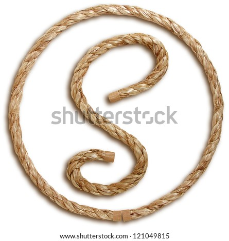 Photograph of Rope Letter S - stock photo