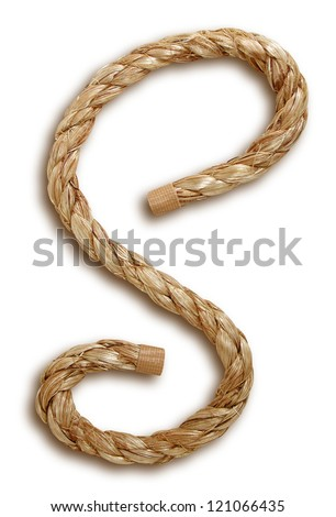Photograph of Rope Letter S
