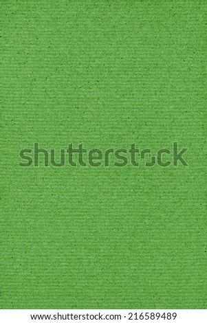 Photograph of saturated, vivid Lime Green recycle striped paper, extra coarse grain, grunge texture sample. - stock photo