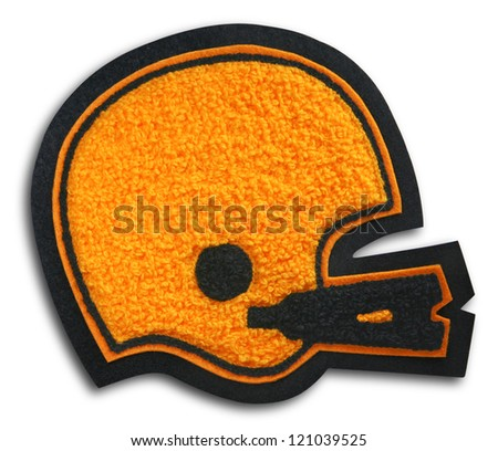 Photograph of School Sports Football Patch - Helmet - stock photo