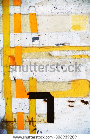 Photograph of urban random collage background or geometric texture  - stock photo