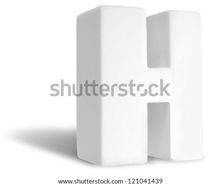 Photograph of White Dimensional Deco Letter H