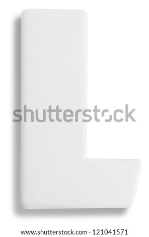 Photograph of White Dimensional Deco Letter L