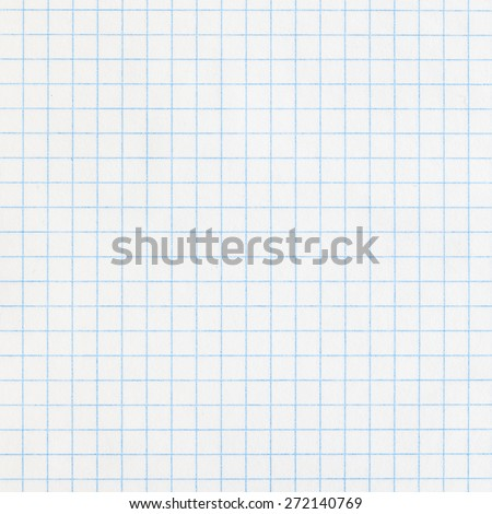 Photograph of White Grid Paper, Top View, Texture, Background - stock photo