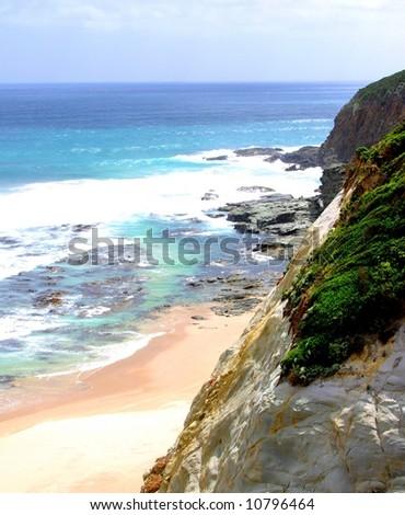 Photograph taken along the Great Ocean Road (Australia). - stock photo