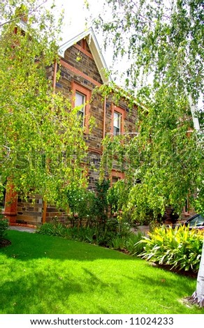 Photograph taken in North Adelaide featuring a historic house (South Australia). - stock photo