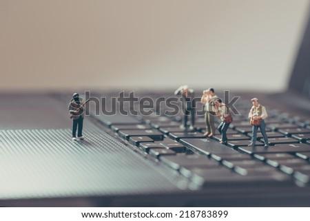 Photograph the crime scene. Photojournalism concept. Macro photo - stock photo