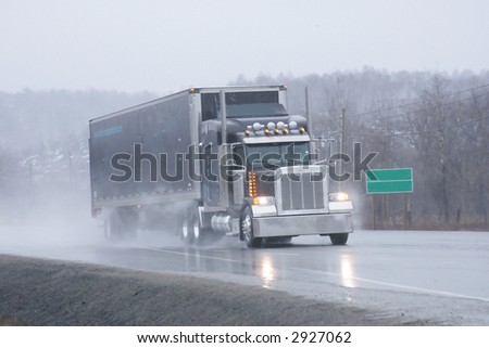 photographed on highway sixty nine south - stock photo