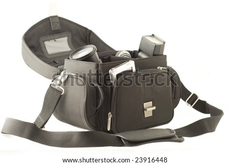 Photographer's bag with gear