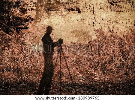 Photographer's Shadow - stock photo