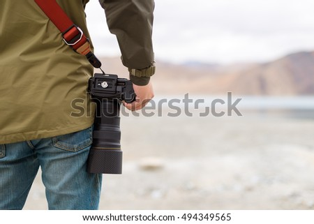 Photographer with Digital camera