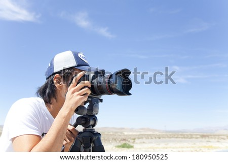 photographers taking photos - stock photo