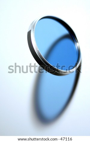 Photographic Blue Filter - stock photo