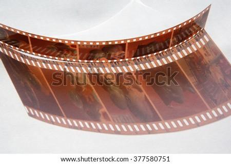 photographic film - stock photo