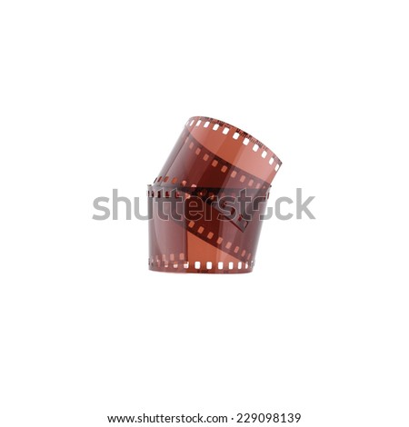 photographic film isolated on white background