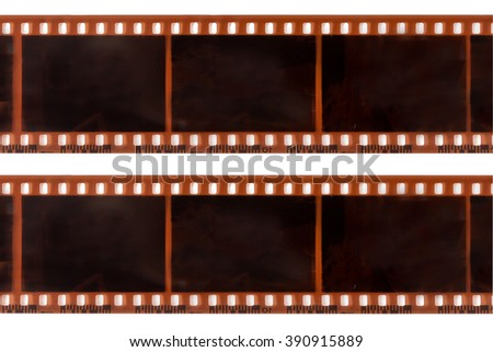 photographic film on white background - stock photo