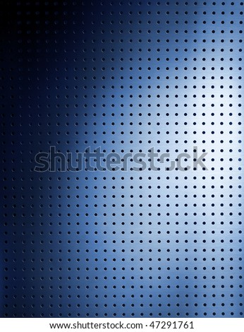 Photographic grid plate whit a blue gleam. - stock photo