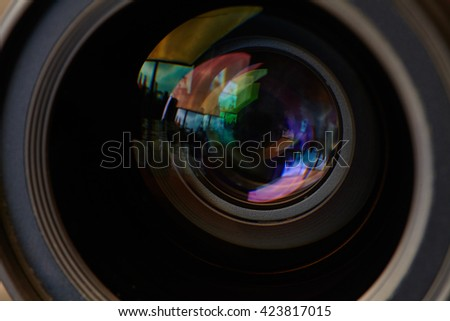 photographic lens - stock photo