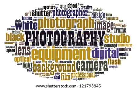 Photography in word collage