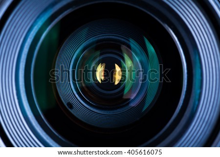 Photography Lens Extreme Close Up - stock photo