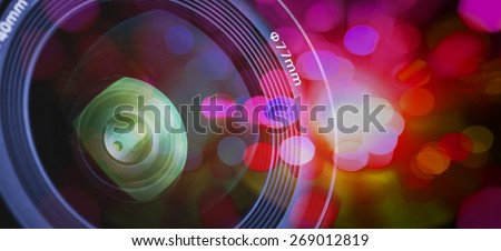photography of a photographic lens - stock photo
