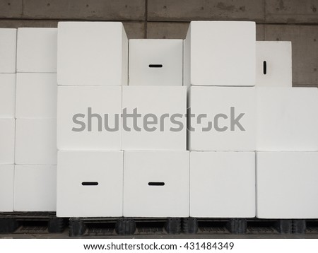 Photography studio equipment storage