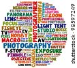 photography words - stock vector