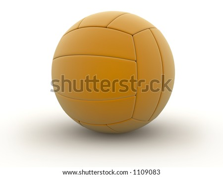 Photorealistic 3D rendered volley ball - stock photo