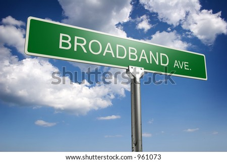 Photorealistic 3D sky-high future street sign