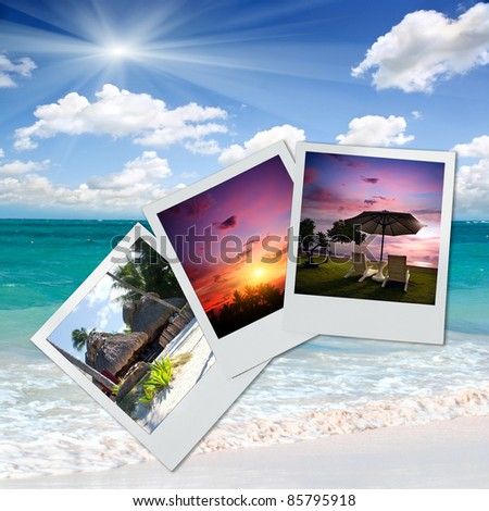 Photos from a holiday on the beach - stock photo
