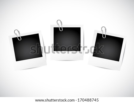 photos illustration design over a white background