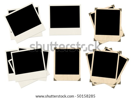 Photos - objects isolated over white - stock photo