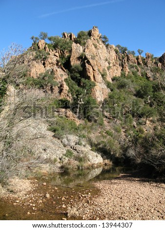 Photos of the hike (ride), in the right bank of the ravine of Malinfernet, in the massif of the esterel, the VAR FRANCE