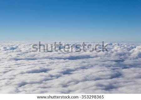Photos view cloud from the sky. - stock photo
