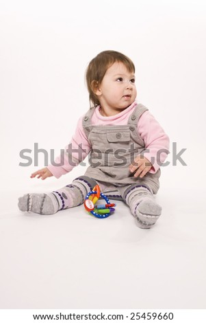 photoshooting in studio with young child