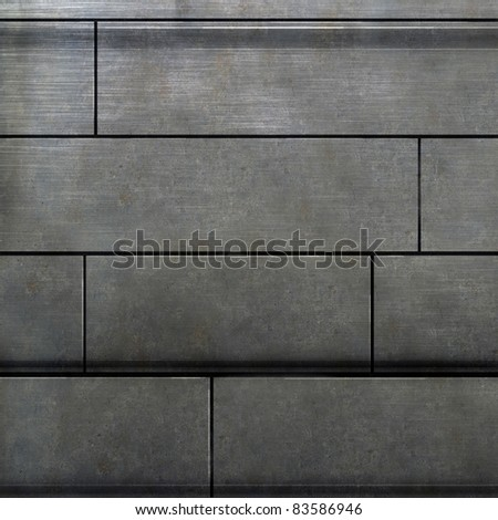 photoshop painted texture of a metal wall - stock photo