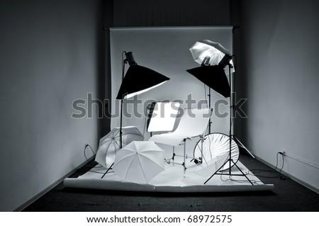 Photostudio equipment - stock photo