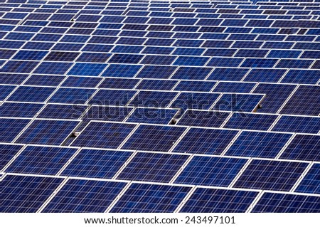 photovoltaic boards - stock photo