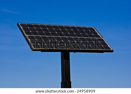 photovoltaic panels against blue sky
