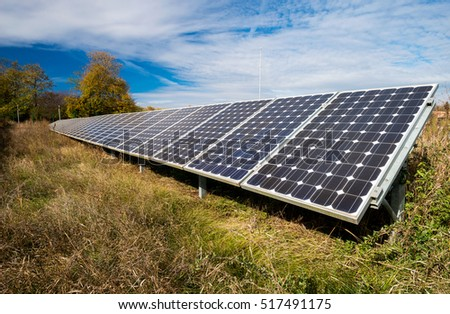 photovoltaic panels - alternative electricity source - selective focus, copy space