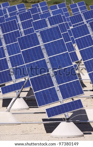 photovoltaic panels for renewable electrical energy production