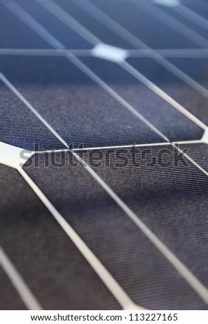 Photovoltaic panels panel solar energy concept - stock photo